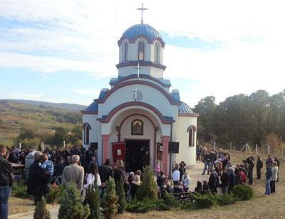 Osveštana crkva na Tekijskom brdu