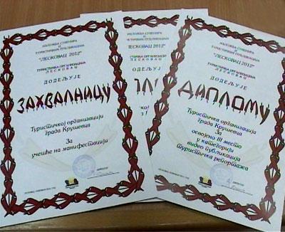 Nagrađena Turistička organizacija Kruševac