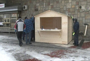 Montažne kućice na trgu