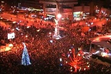 Proslava na prepunom gradskom trgu
