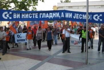 Protest radnika industrije 14. oktobar (VIDEO)