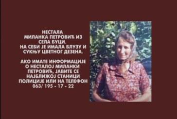 Nestala Milanka Petrović iz sela Buci