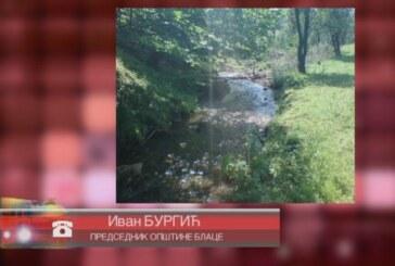 Postojeći sistem za prečišćavnje otpadnih voda u opštini Blace nije u funkciji (VIDEO)