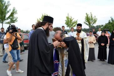 Doček moštiju Svetih lekara Kozme i Damjana u Crkvi Pokrova Presvete Bogorodice