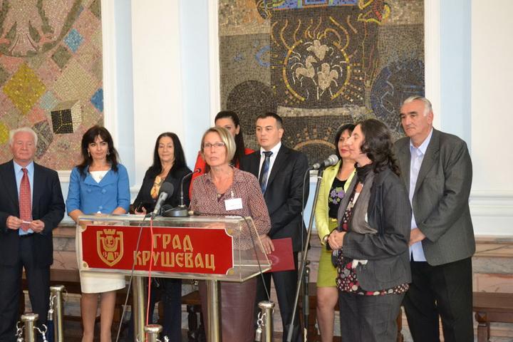 Prijem za učenike i nastavnike iz Ukrajine i Holandije, učesnike Trećeg međunarodnog dečijeg festivala,