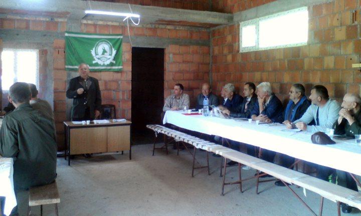 Sednica Skupštine Lovačkog udruženja Kruševac u novoizgrađenom Lovačkom domu u Jasikovcu