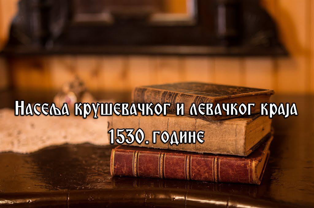 037 PRIČA O KRUŠEVCU: Naselja u kruševačkom i levačkom kraju 1530. godine