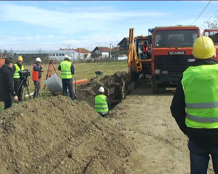 U Modrici, Velikom Golovodu, Lipovcu i Pakašnici gradnja kolektorske i kanalizacione mreže