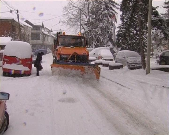 Čišćenje snega u župskom kraju