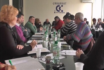 U Veću Saveza  sindikata za više opština u Kruševcu održana sednica o aktuelnoj situaciji u privredi Rasinskog okruga