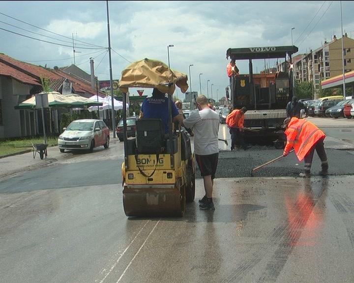 Postavljanje usporivača saobraćaja u Kruševcu
