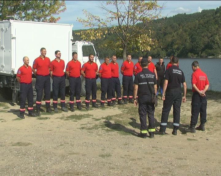Godišnja vežba Odeljenja za vanredne situacije na jezeru Ćelije