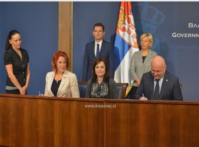 Potpisan ugovor o formiranju Regionalnog Startup Centra u Kruševcu