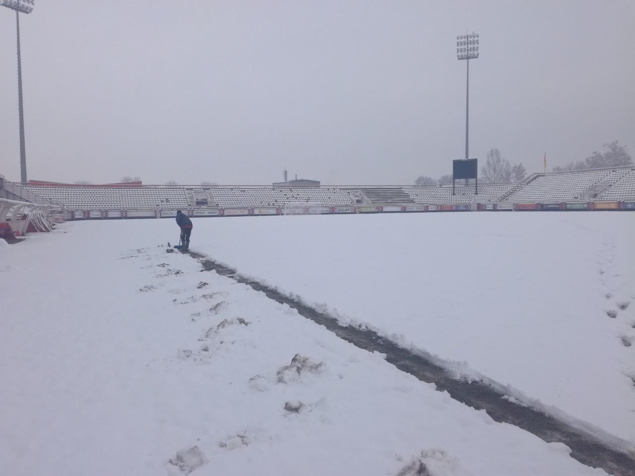 Sneg odložio utakmicu Napredak – Radnički (Niš) na 24 sata