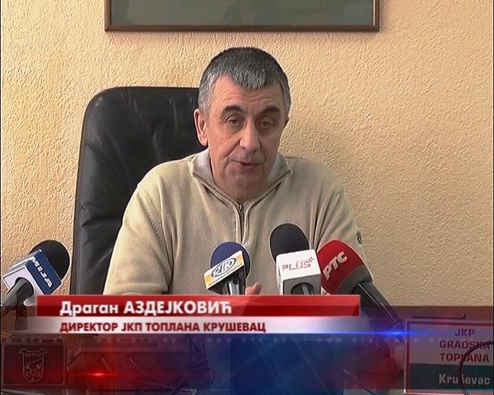 Konferencija za novinare u Gradskoj Toplani Kruševac povodom jučerašnjeg kvara