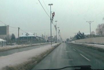 Putni pravci na teritoriji Rasinskog okruga prohodni, na kolovozu do pet centimetara ugaženog snega