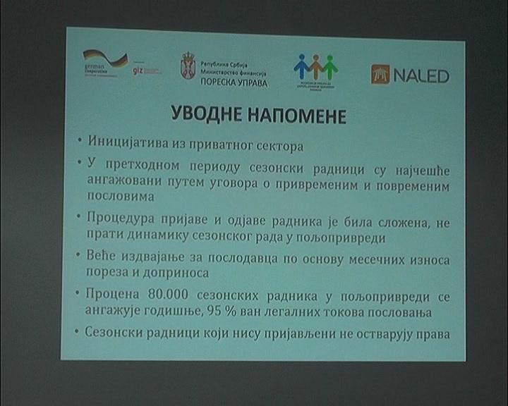 U RPK Kruševac predstavljeni novi zakonski okviri za angažovanje sezonski radnika u poljoprivredi