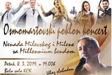 Osmomartovski koncert u Beloj sali Kulturnog centra Kruševac