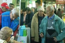 Kruševačko Društvo za borbu protiv šećerne bolesti organizovalo akciju na Novoj pijaci