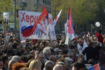 Najveći miting u novijoj istoriji, građani iz cele Srbije i regiona u Beogradu