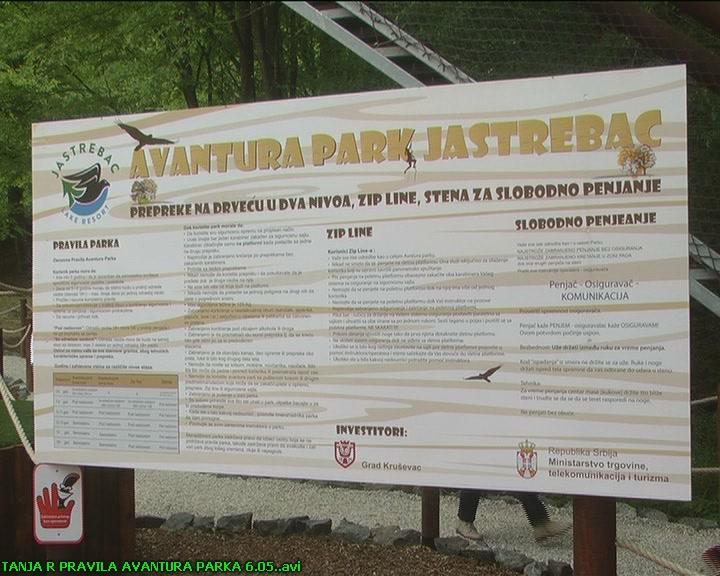 Pravila koja važe u Avantura parku na Jastrepcu