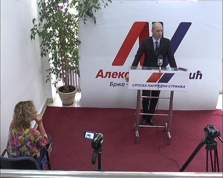 Konferencija za novinare u Gradskom odboru Srpske napredne stranke Kruševac
