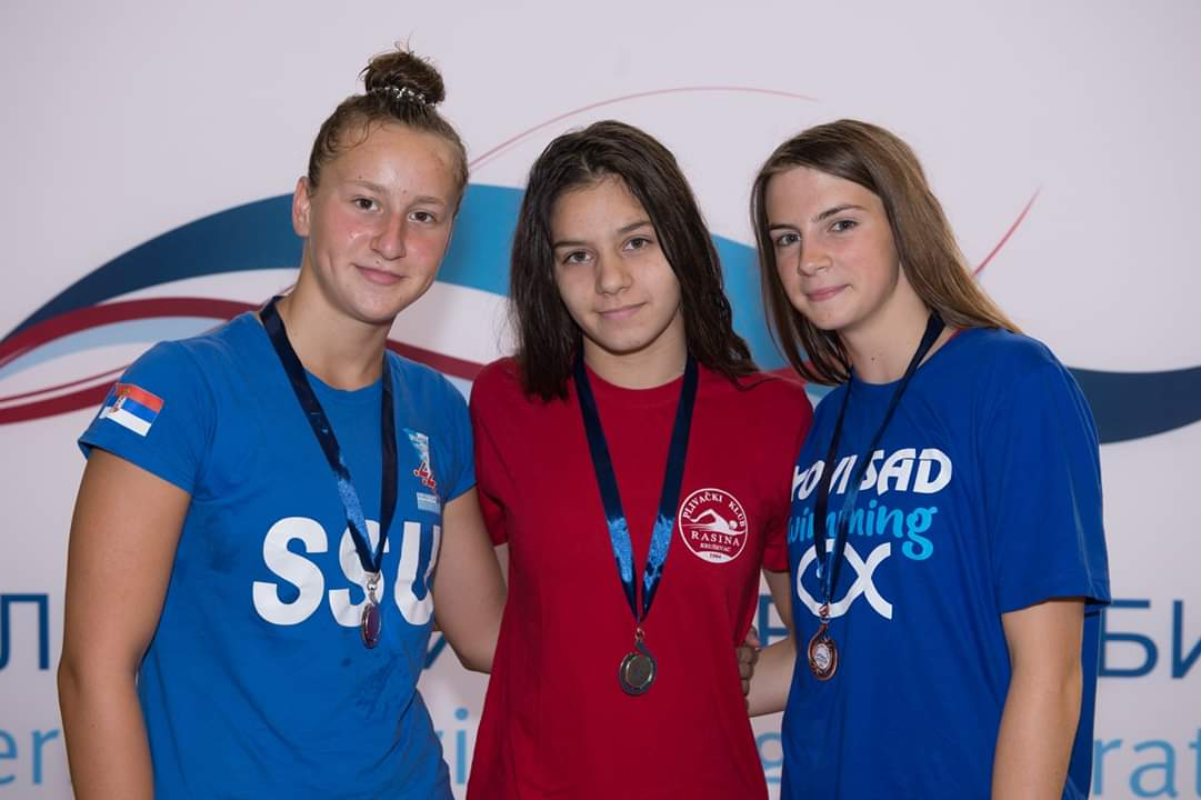 Tri medalje plivačicama Rasine na Državnom prvenstvu u Kragujevcu