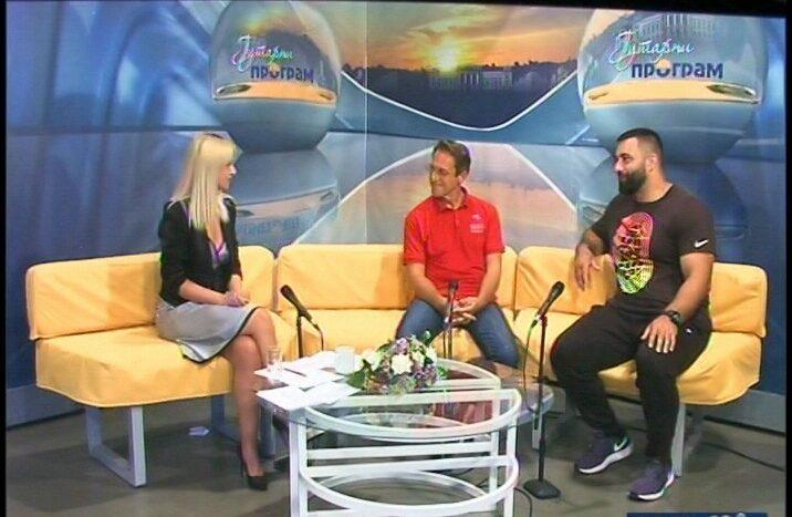 Reprezentativac u bacanju kugle Asmir Kolašinac gost u Jutarnjem programu Televizije Kruševac