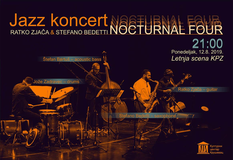Ratko Zjača i Stefano Bedeti sa sastavom NOCTURNAL FOUR na letnjoj sceni KPZ