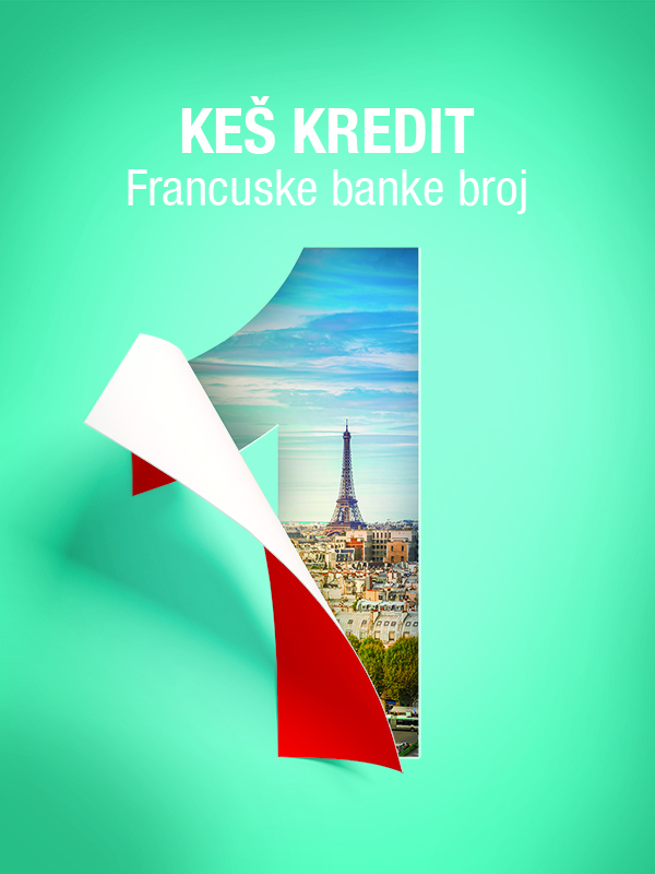 Keš kredit francuske banke broj 1