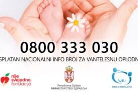 Besplatan nacionalni telefonski broj u okviru Centra za vantelesnu oplodnju