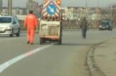 Obeležavanje biciklističkih traka u dužini od 800 metara u Aerodromskoj ulici