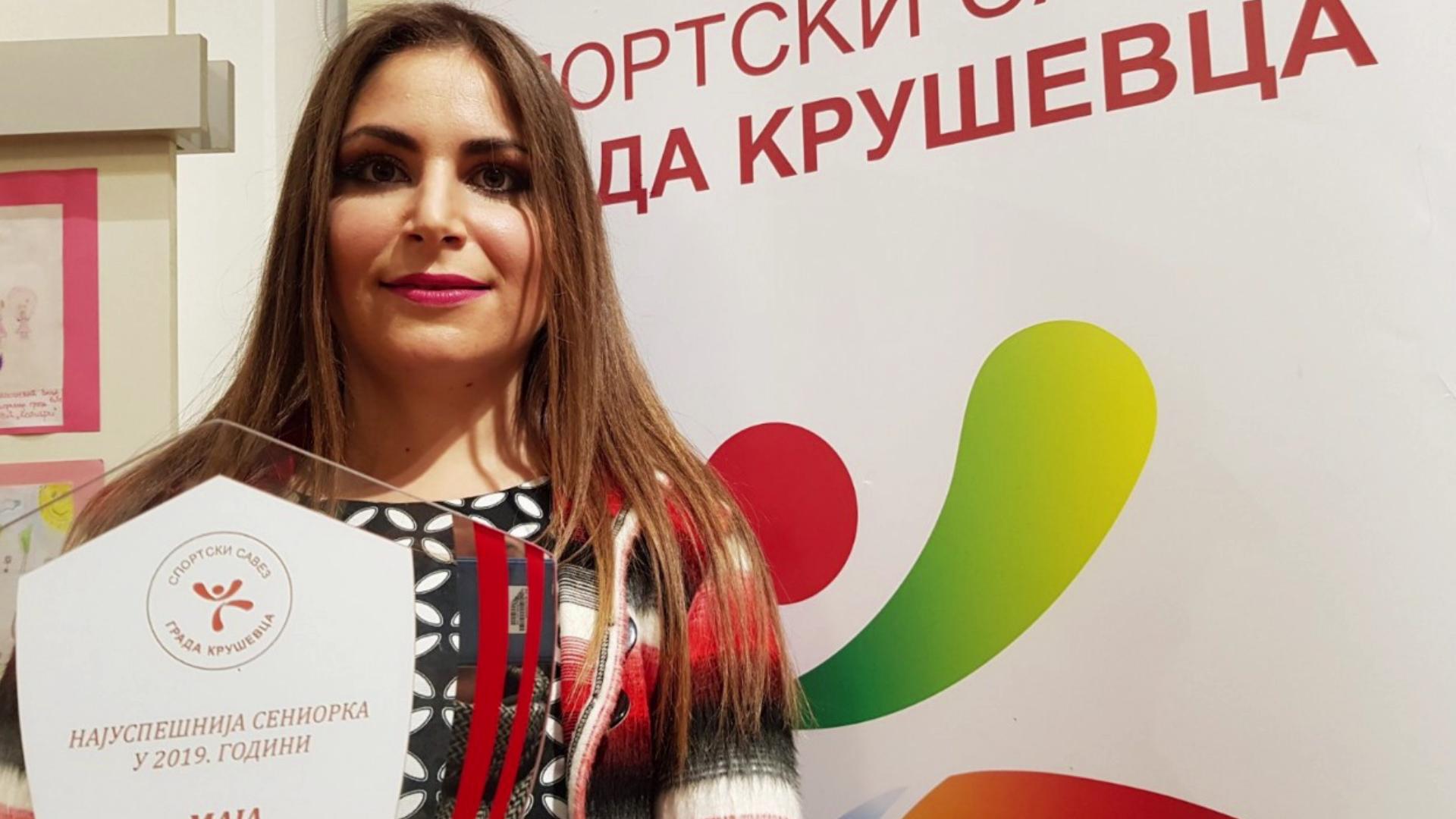 Maja Milosavljević sportiskinjagrada Kruševca treću godinu za redom