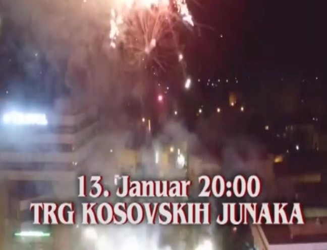 Doček Srpske Nove godine 13. januara od 20 časova na Trgu kosovskih junaka