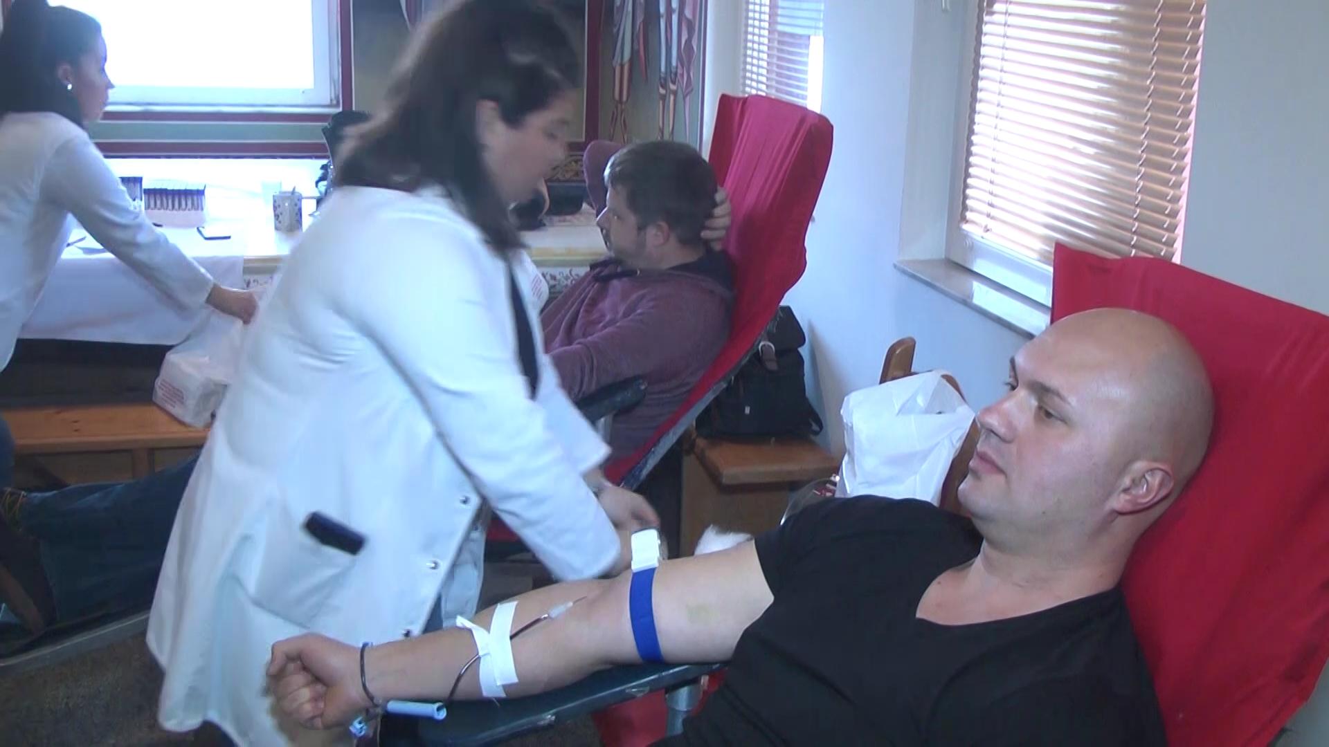 U parohijskom domu crkve u Krvavici održana akcija dobrovoljnog davanja krvi