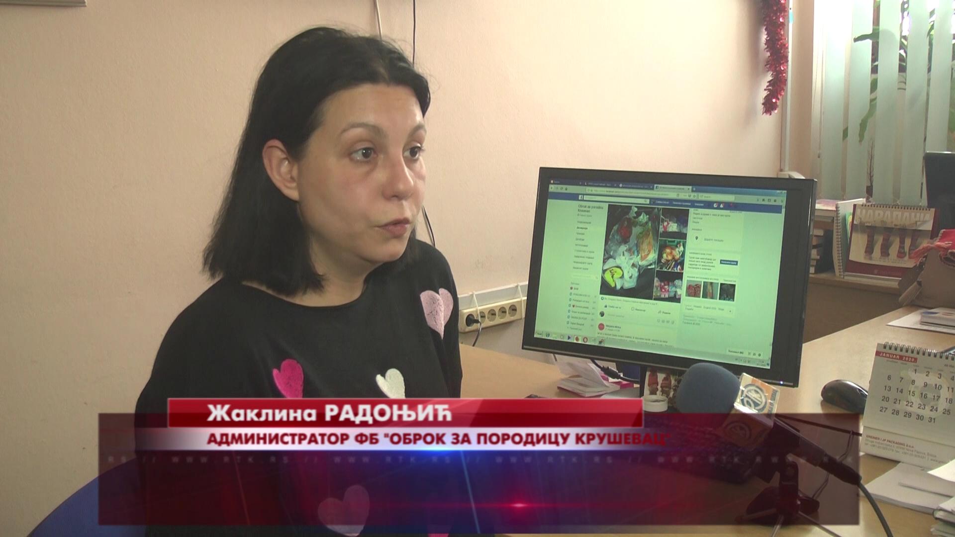 """Kruševljanka Žaklina Radonjić pokrenula na Fejsbuku grupu """"Obrok za porodicu Kruševac"""""""