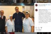 SA INSTAGRAMA: Predsednik Vučić sa zaposlenima u kuhinji Predsedništva