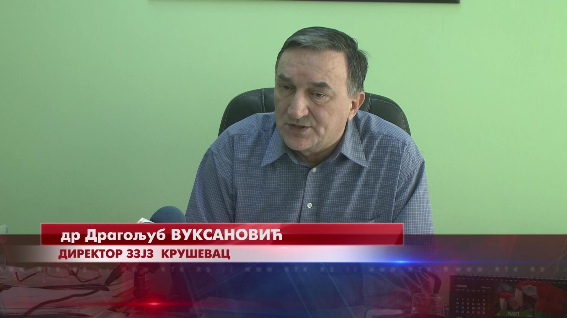 Epidemiolog dr Dragoljub Vuksanović, direktor Zavoda za javno zdravlje Kruševac: Nemamo obolelih od korona virusa