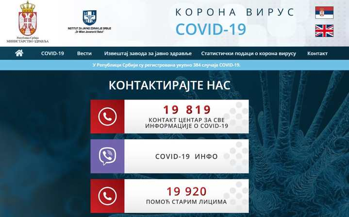 Još dve žrtve koronavirusa u Srbiji