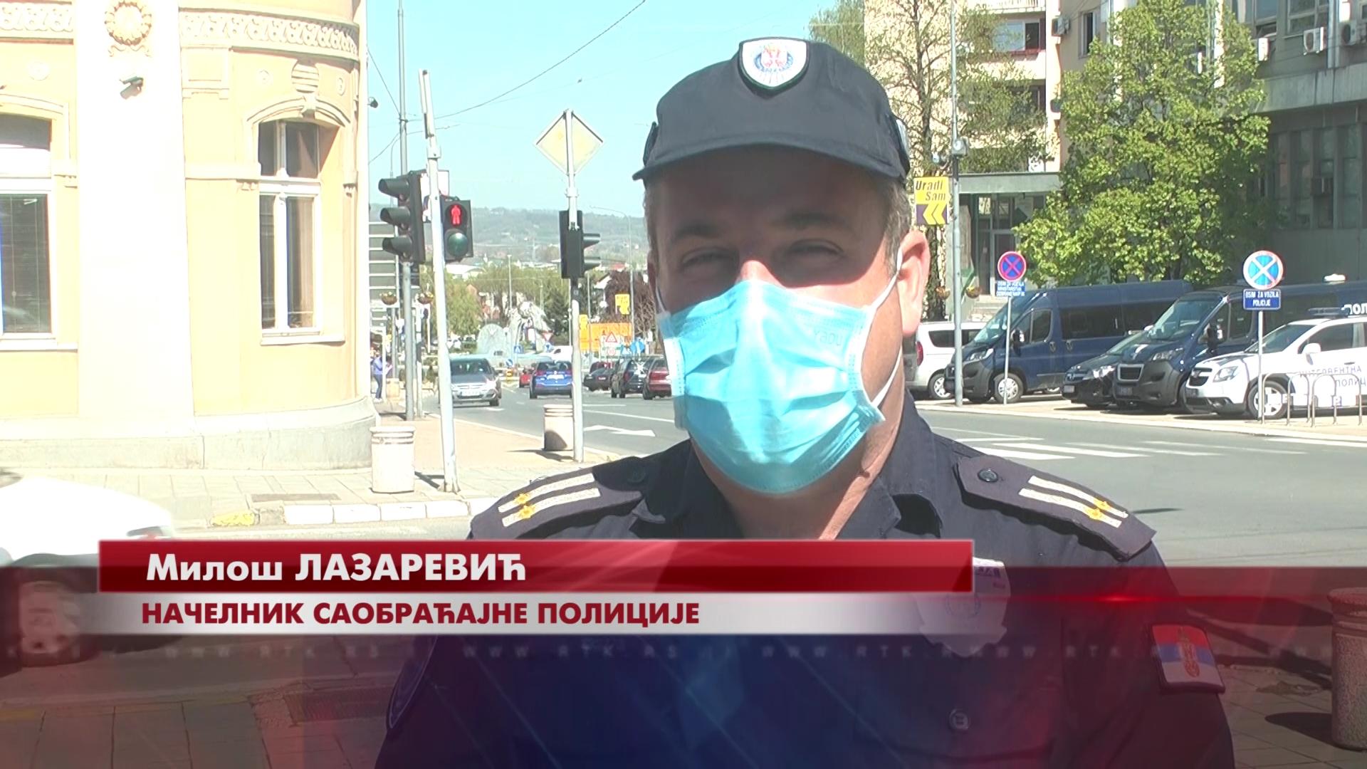 Tokom policijskog časa saobraćaj u Kruševcu samo sporadičan