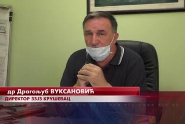 Trenutna epidemiološka situacija u Rasinskom okrugu uklapa se u prosek Srbije