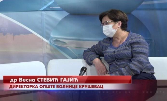 Dr Vesna Stević Gajić: Povećan broj pacijenata koji ostaju na hospitalizaciji, ali smo prostorno, kadrovski i u bilo kom drugom pogledu opremljeni