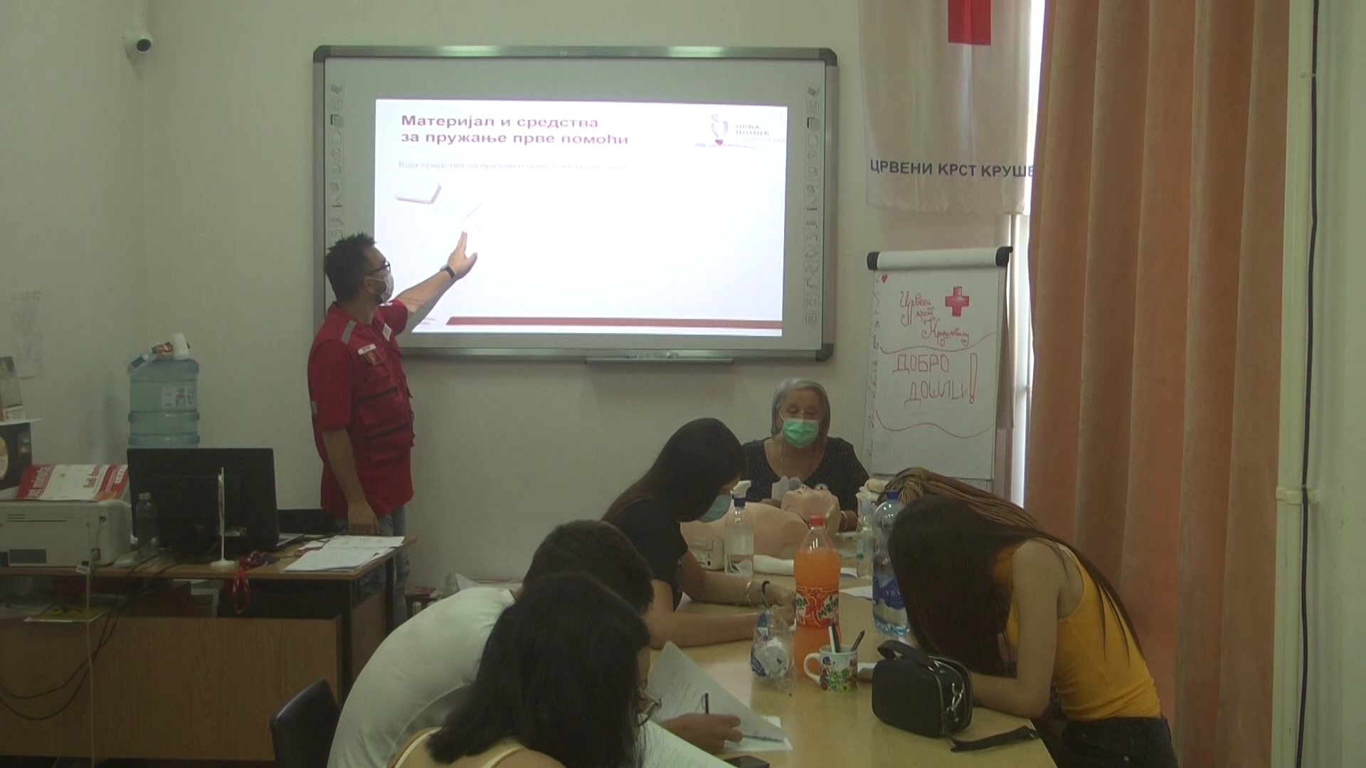 U Crvenom krstu organizovano polaganje ispita za buduće vozače iz obuke Prve pomoći u skladu samerama zastite od koronavisusa