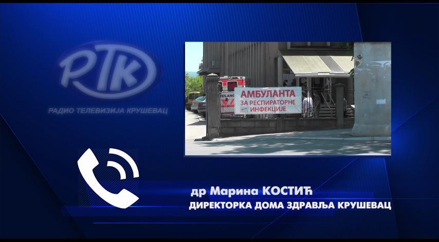 DR MARINA KOSTIĆ: Sve službe Kovid ambulante u Kruševcu rade neometano i maksimalo se trudimo da izađemo u susret sugrađanima