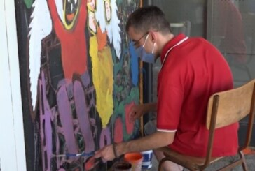 Likovna radionica Centra za samostalni život Osoba sa invaliditetom u Trsteniku