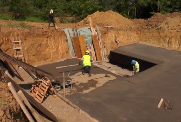 Radovi na izgradnji rezervoara u Petini