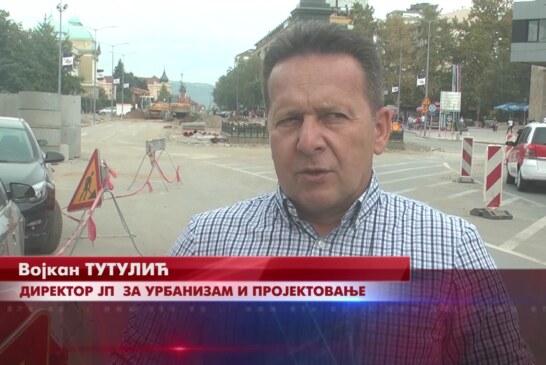 Radovi na rekonstrukciji Trga kosovskih junaka teku predviđenom dinamikom