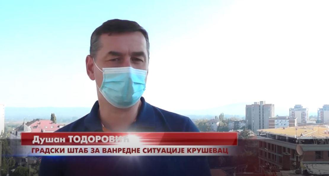 Iako je vanredna situacija na području Kruševca ukinuta, mere bezbednosti usmerene na sprečavanje širenja koronavirusa ostaju na snazi