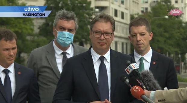 Razgovori u Vašingtonu – Vučić: Nema više tačke u kojoj se govori o priznanju