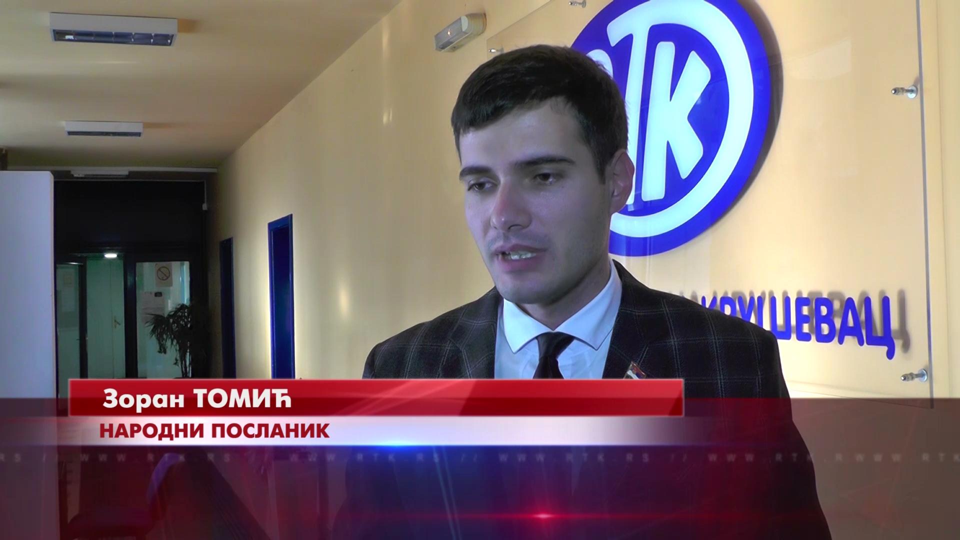 U novom sazivu Skupštine Srbije i petoro narodnih poslanika iz Rasinskog okruga, za RTK govori Zoran Tomić